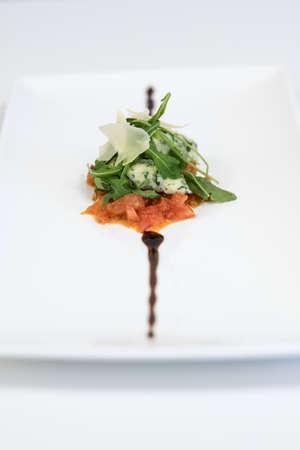 rocket tomato mozzarella gourmet food.