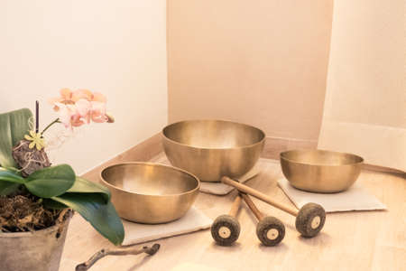 swinging singing bowl equipment wellness.
