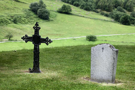 rood: Rood and headstone in Norway Cemetery