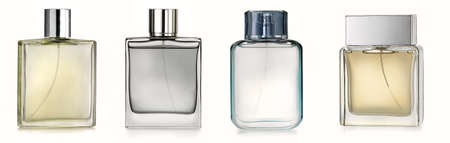 luxury goods: Four perfume spray bottles