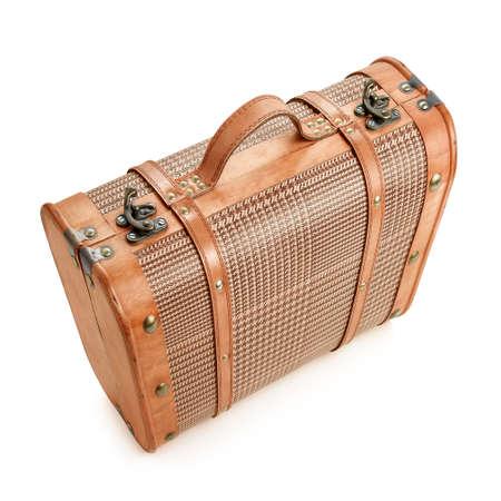 antique suitcase: Old suitcase antique style