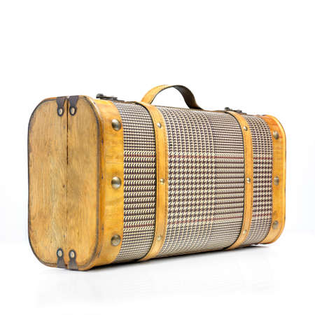 duffel: Classic suitcase with a light reflection