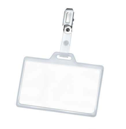 Blank badge with clipping path photo