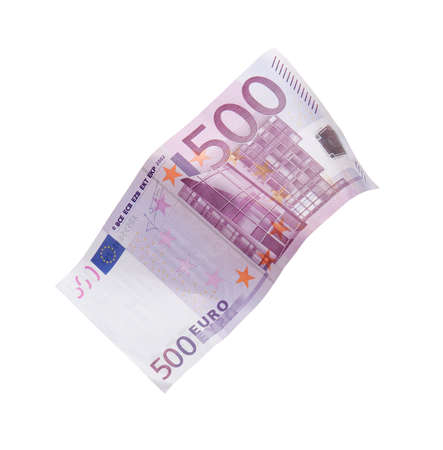 dropping: Dropping five hundred euro banknote