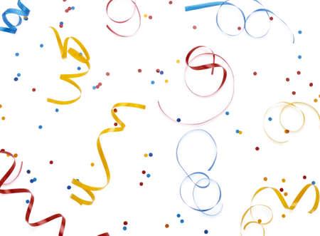 Streaners abd confetti background