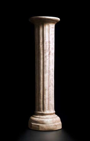 expositor: Columna de estilo clásico en el camino de recortes de fondo negro