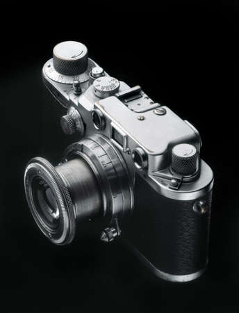 rangefinder: Old rangefinder camera from the forties