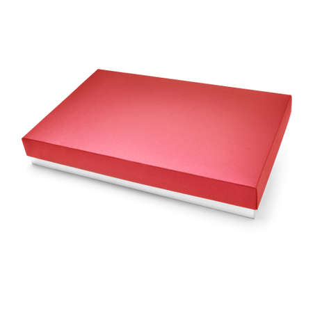 carboard box: Red color carboard box on white background