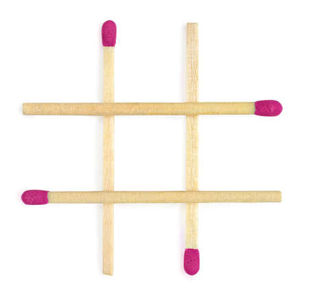 tic tac toe: Tic tac toe play matches red color Stock Photo