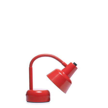 flexion: Red color desklamp on white background. clipping path