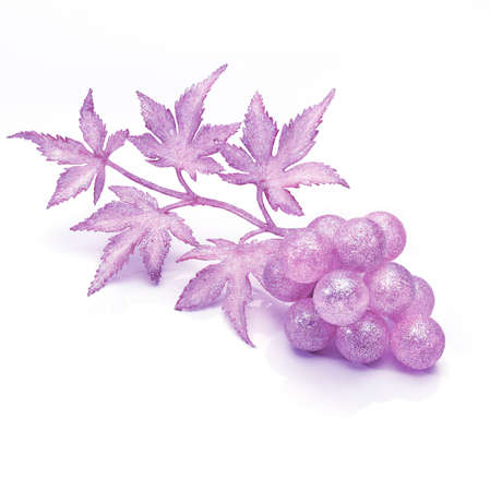 christmas motif: Christmas motif. Grapes fancy decoration with glitter