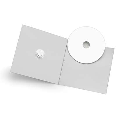cd case: Blank cd case with a cardboard pack isolated against white background Stock Photo