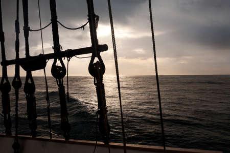 Navigation gear at sunrise