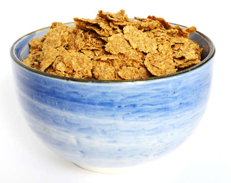 All bran flakes for breakfast Stock Photo