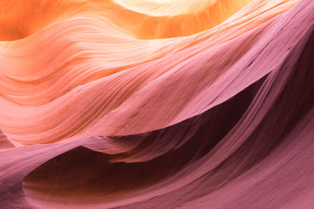 Orange and yellow colors in Antelope Canyon.