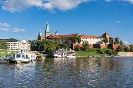 Wawel Castle and waterfront of Vistula river in Cracow, Poland Sajtókép