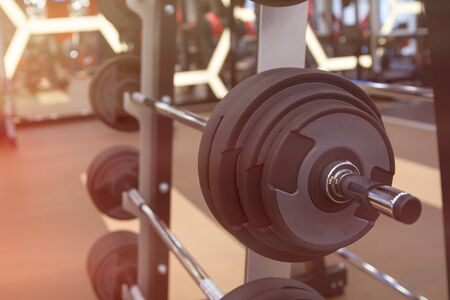 Sport equipments in fitness room or gym room