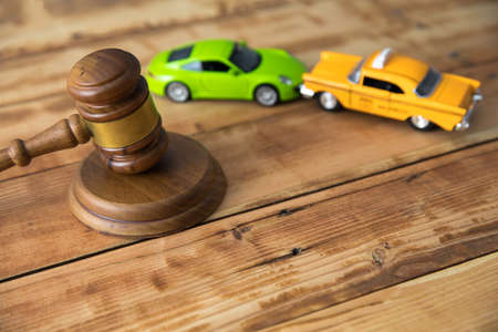 car model with judge on the table