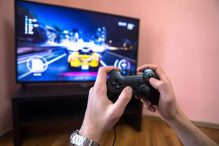 gaming game play tv fun gamer gamepad guy controller video