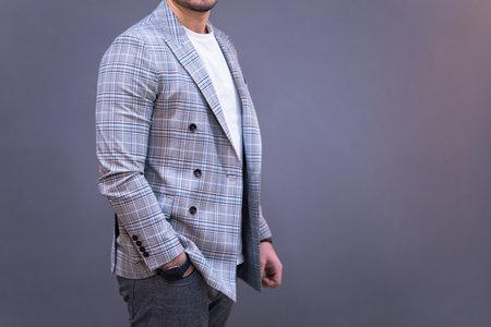 young business man hand in pocket Standard-Bild