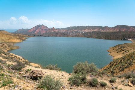 A beautiful scenery of a lake in mountain