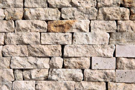 Bricks stone wall background texture.