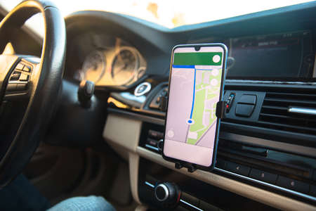 Maps application on smart phone in car