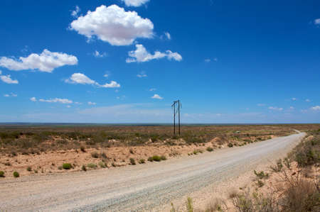 gravel roads: Desert road in New Mexico  Roswell