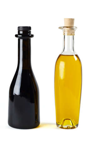 balsamic: Olive oil and balsamic vinegar in nice bottles