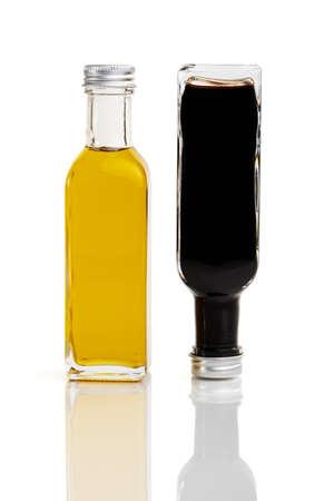 Oil bottle and vingear bottle upside down Stock Photo - 7853591