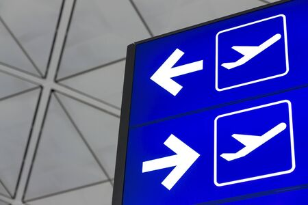 Sign lightbox in Airport