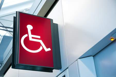 wheelchair: Wheelchair Signage Stock Photo