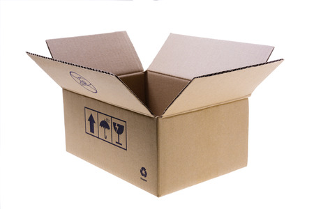 Open Cardboard Box Imagens - 44484074