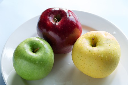 small group of objects: Healthy Apple