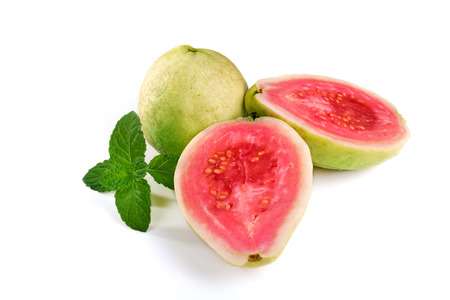 pink and green: Cut of Guava