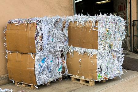 Waste paper recycling Standard-Bild