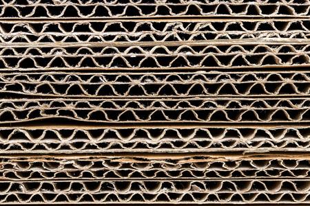 Stack of Corrugated Cardboard Background
