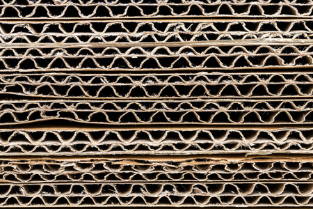 Stack of Corrugated Cardboard Background