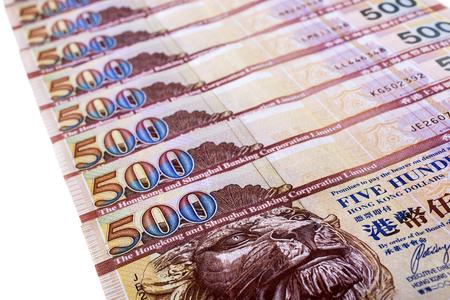 multiple images: Hong Kong 500-dollar notes