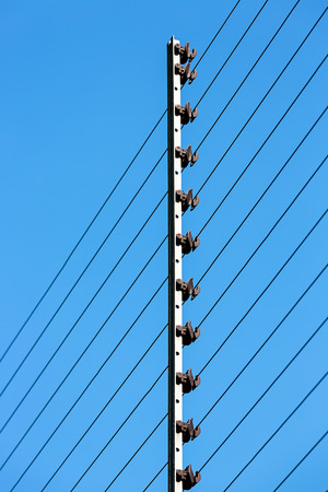 electric fence: Electric Fence Stock Photo