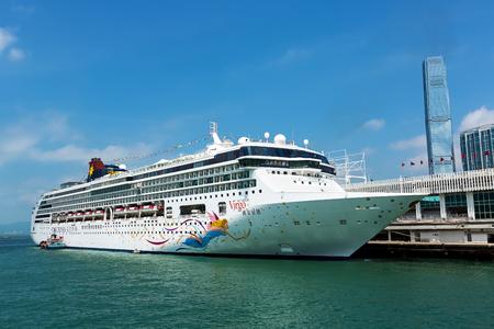 major ocean: Hong Kong, China - September 6, 2015: Star Cruises Superstar Virgo docked at Ocean Terminal, Hong Kong Hongkong is a major tourist city in Asia, More than 40000000 visitors a year..