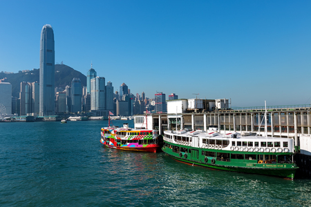 ferries: Hong Kong - December 30, 2014: The Star Ferry, or The Star Ferry Company, is a passenger ferry service operator and tourist attraction in Hong Kong.