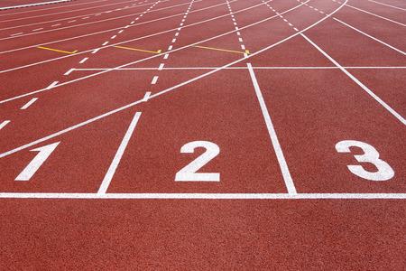 running track: Running track start Stock Photo