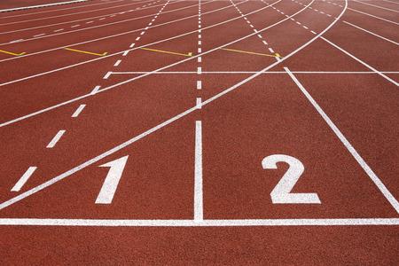 pista de atletismo: Ejecuci�n de inicio de la pista