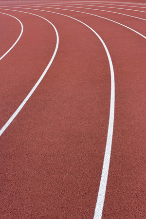 competitive sport: Athletics Running Track Curve Stock Photo