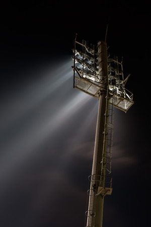 sports field: Stadium lights from behind