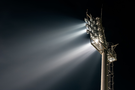halogen lighting: Stadium lights from behind