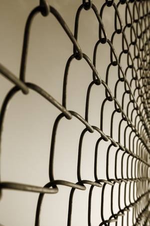 prison system: chain-link fence