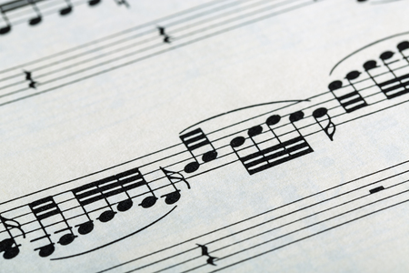 simbolos musicales: Símbolos musicales Foto de archivo