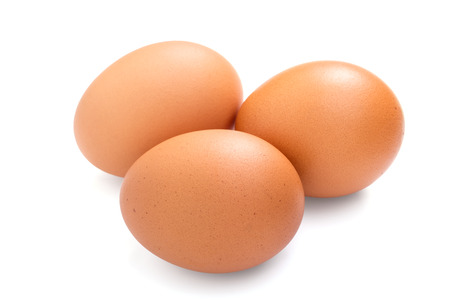 Three eggs isolated on white background 写真素材